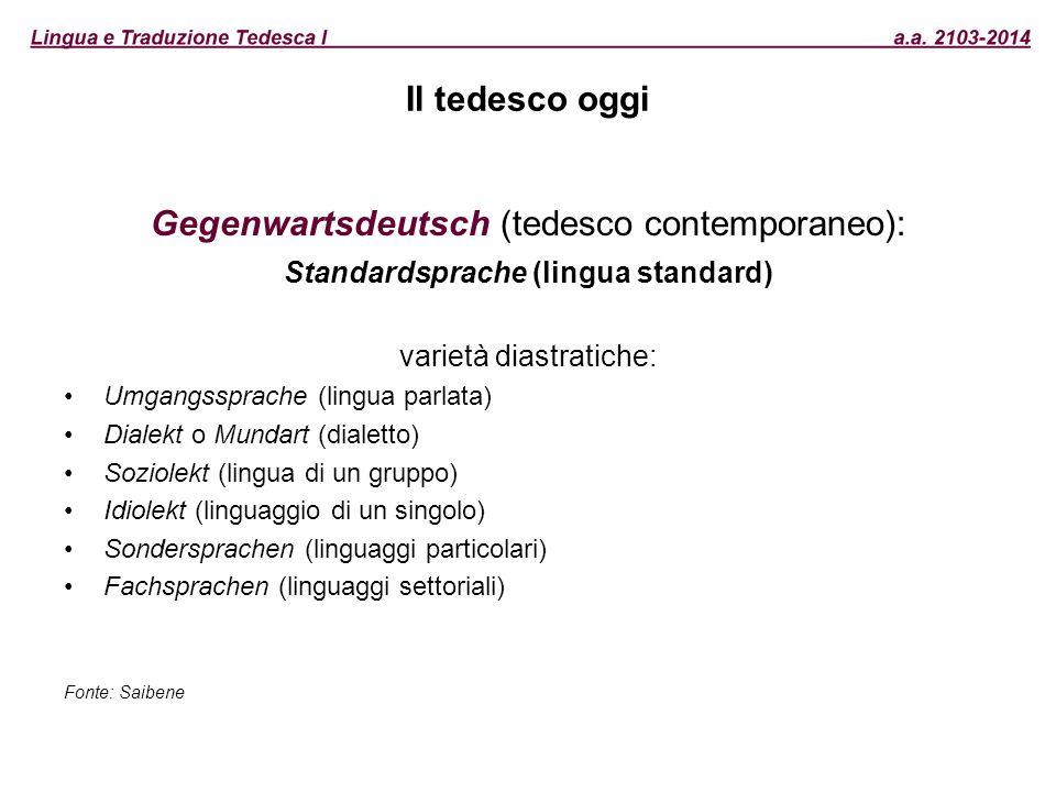 Standardsprache (lingua standard)