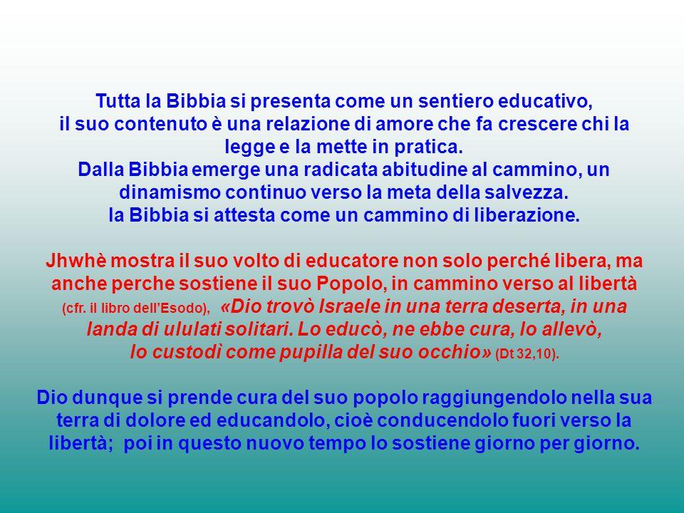 Tutta la Bibbia si presenta come un sentiero educativo,