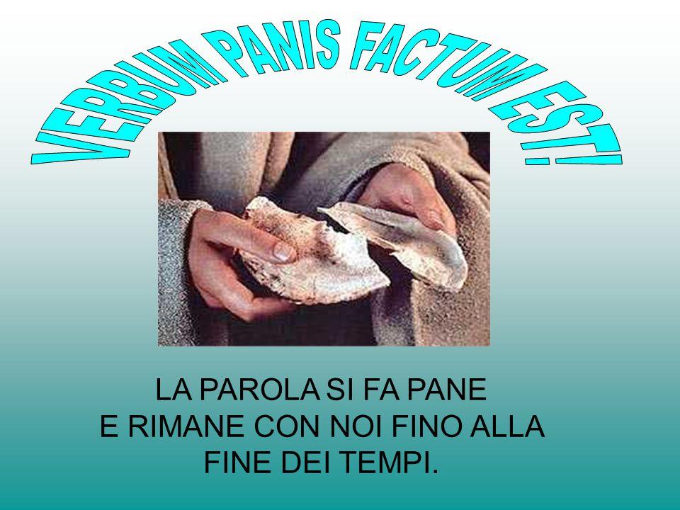 VERBUM PANIS FACTUM EST!