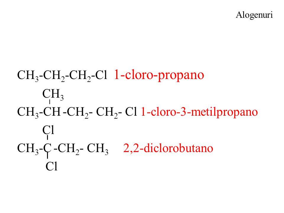 CH3-CH2-CH2-Cl 1-cloro-propano CH3