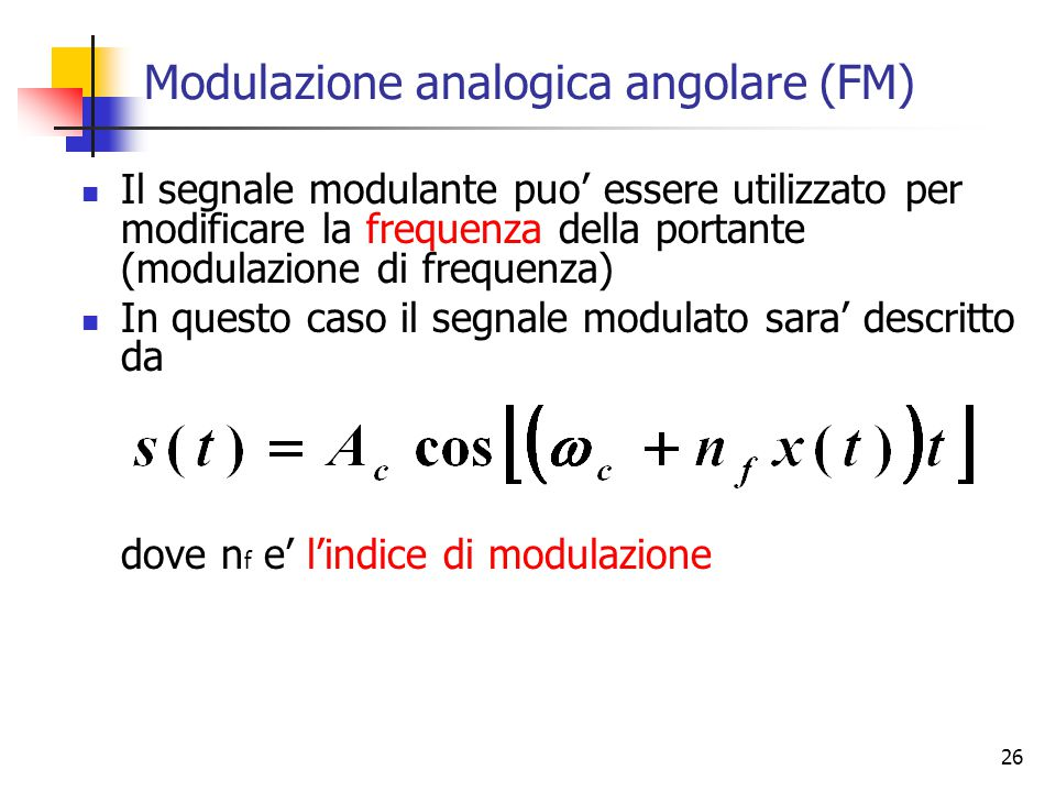 Modulazione analogica angolare (FM)