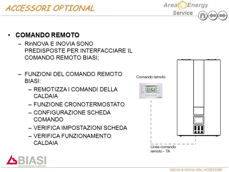 ACCESSORI OPTIONAL COMANDO REMOTO