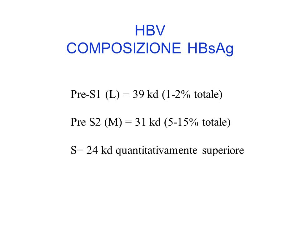 HBV COMPOSIZIONE HBsAg