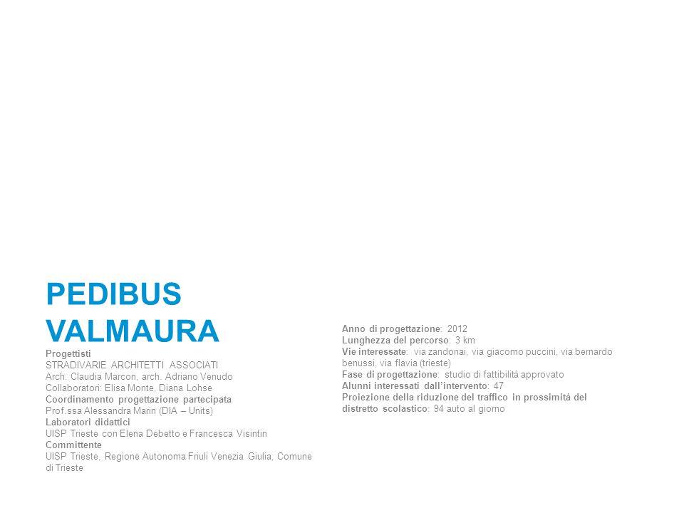 PEDIBUS VALMAURA Progettisti Anno di progettazione: 2012