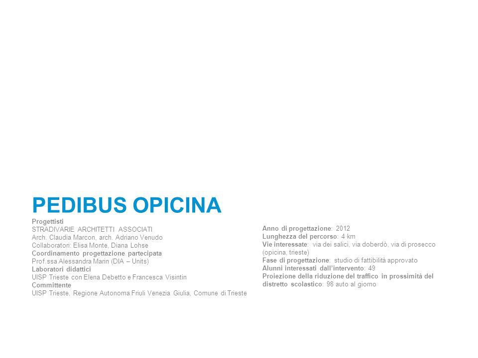 PEDIBUS OPICINA Progettisti STRADIVARIE ARCHITETTI ASSOCIATI