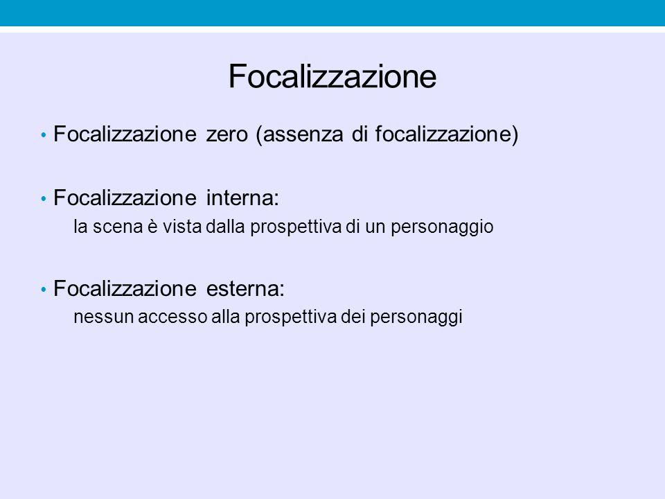 Focalizzazione Focalizzazione zero (assenza di focalizzazione)