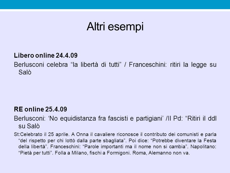 Altri esempi Libero online 24.4.09