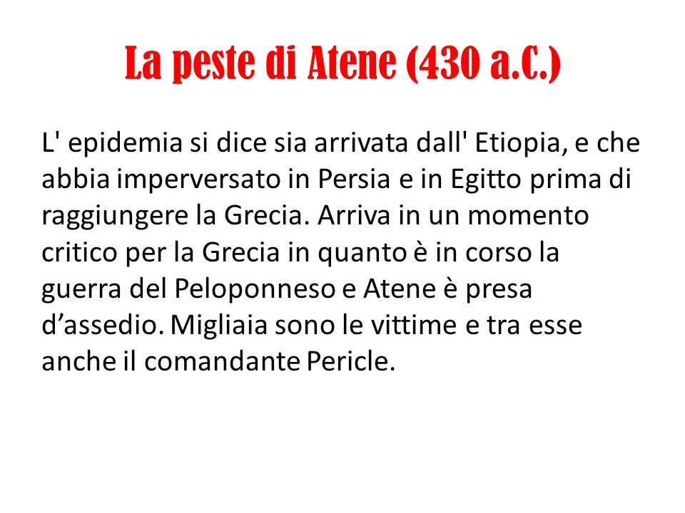 La peste di Atene (430 a.C.)
