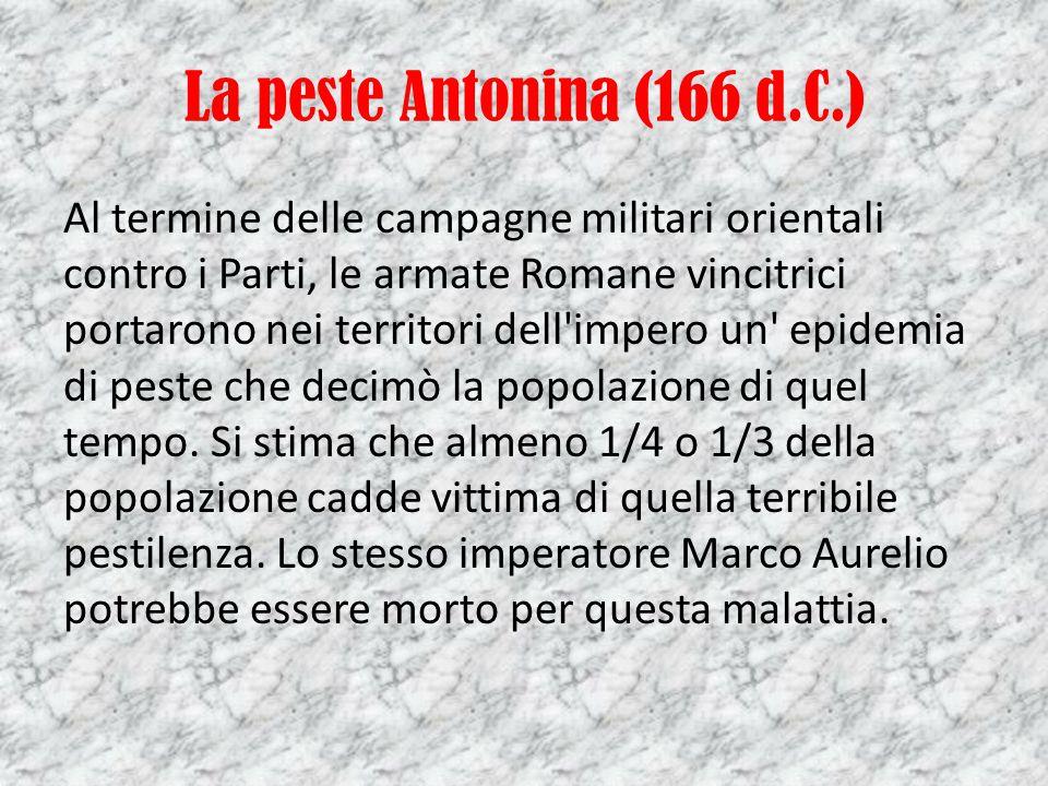 La peste Antonina (166 d.C.)