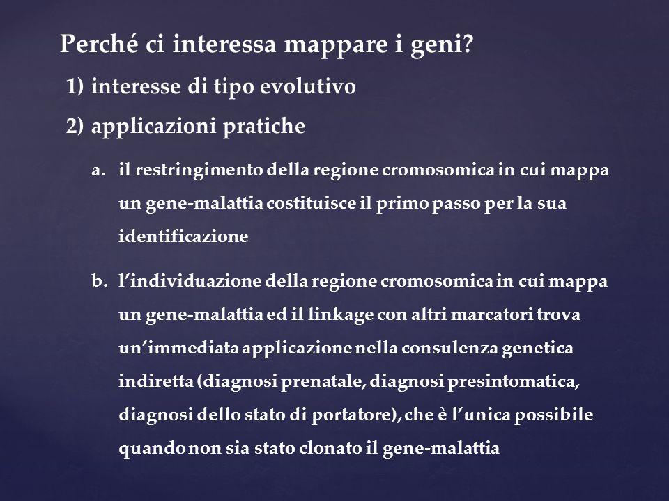 Perché ci interessa mappare i geni