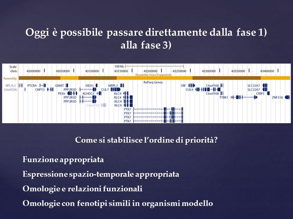 Oggi è possibile passare direttamente dalla fase 1) alla fase 3)