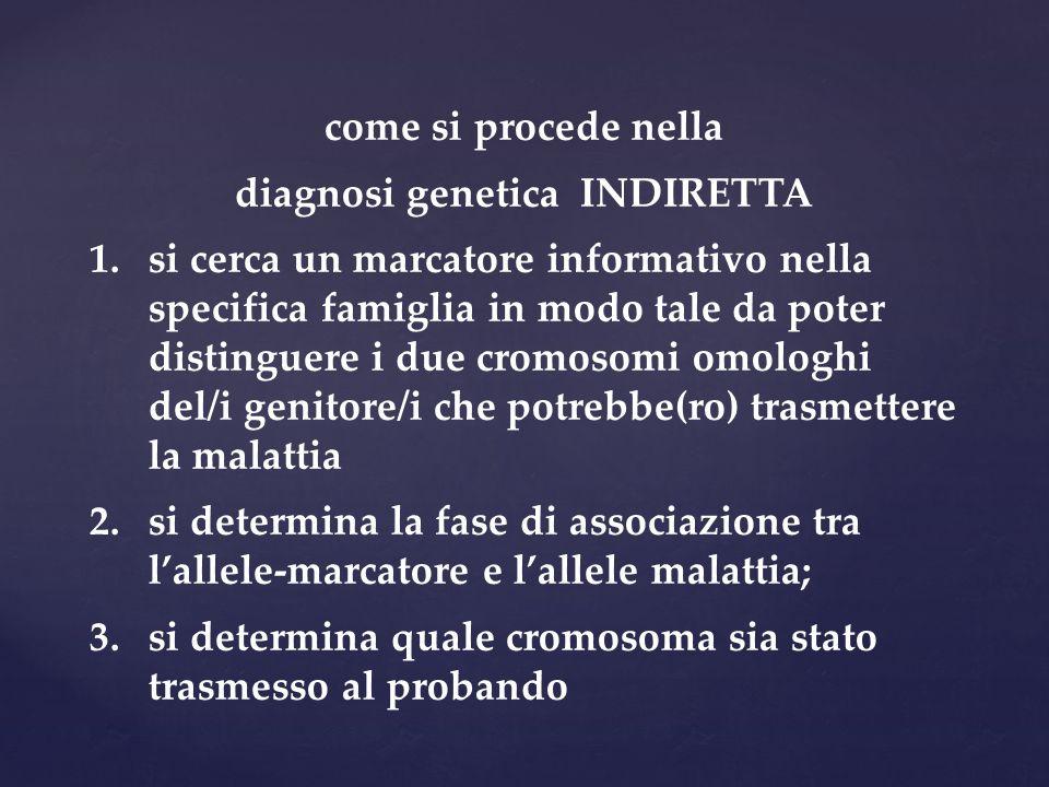 diagnosi genetica INDIRETTA