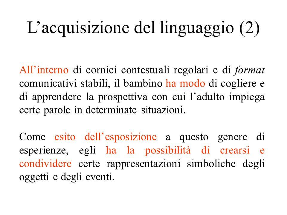 L'acquisizione del linguaggio (2)