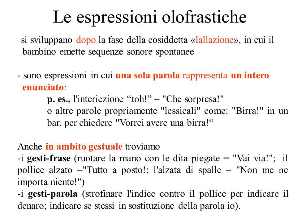Le espressioni olofrastiche