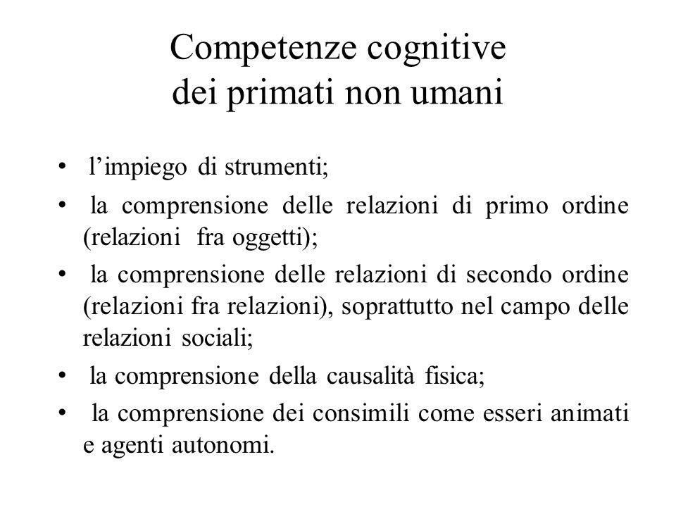 Competenze cognitive dei primati non umani