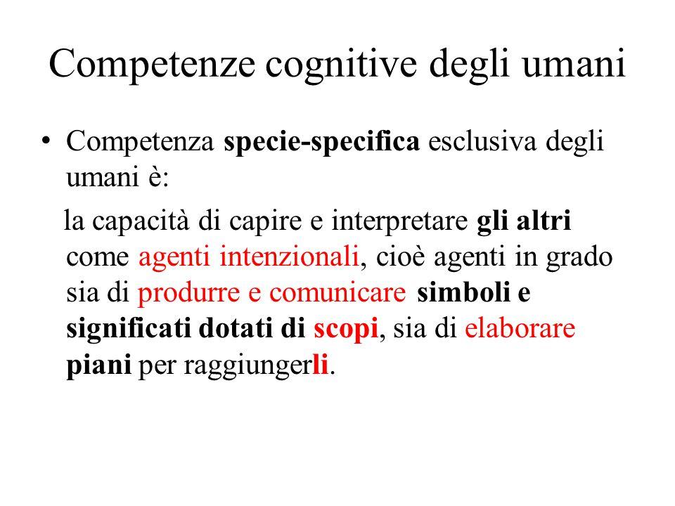 Competenze cognitive degli umani