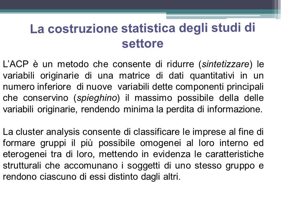 La costruzione statistica degli studi di settore