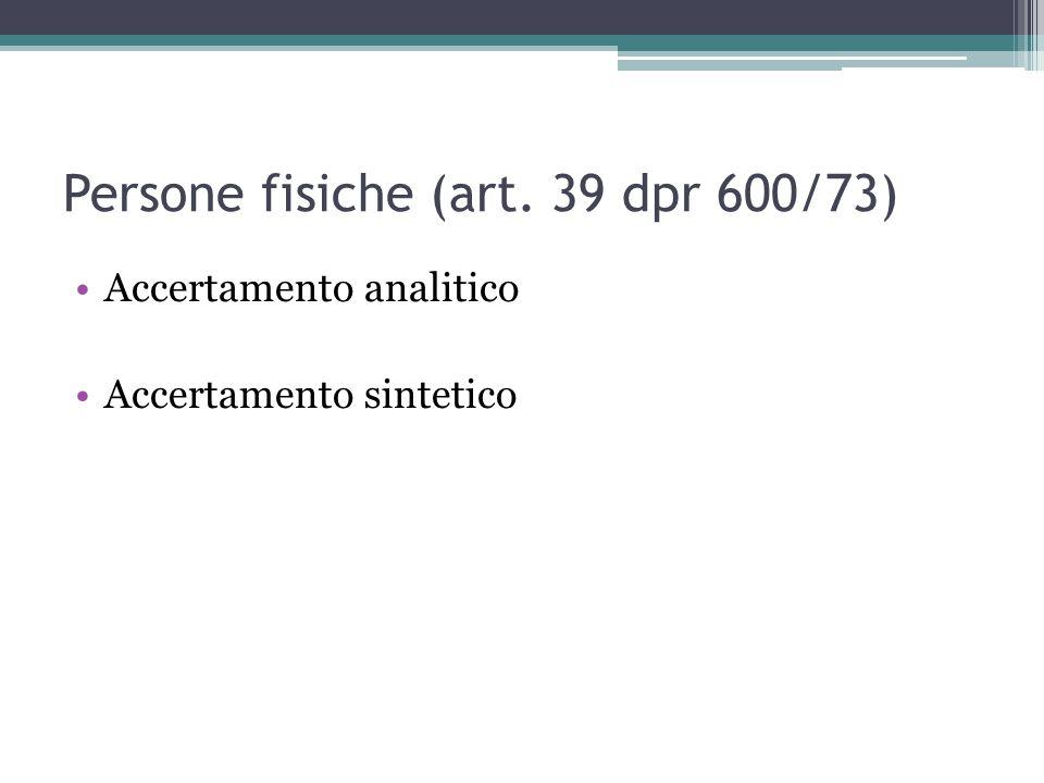 Persone fisiche (art. 39 dpr 600/73)
