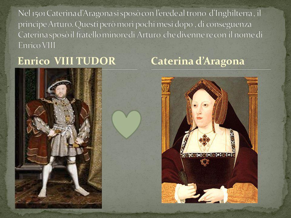 Enrico VIII TUDOR Caterina d'Aragona