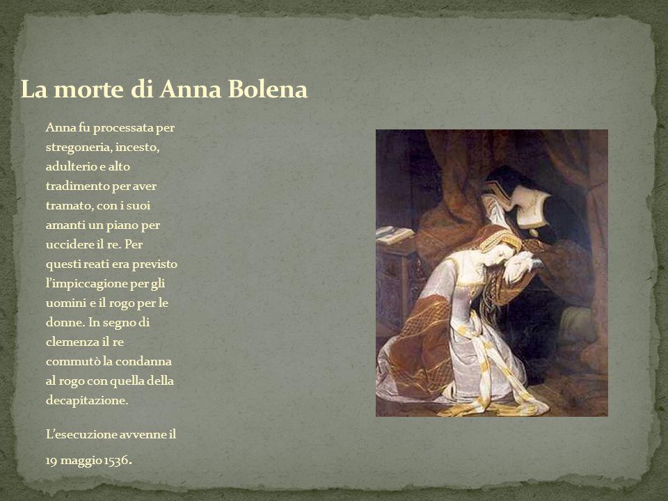 La morte di Anna Bolena