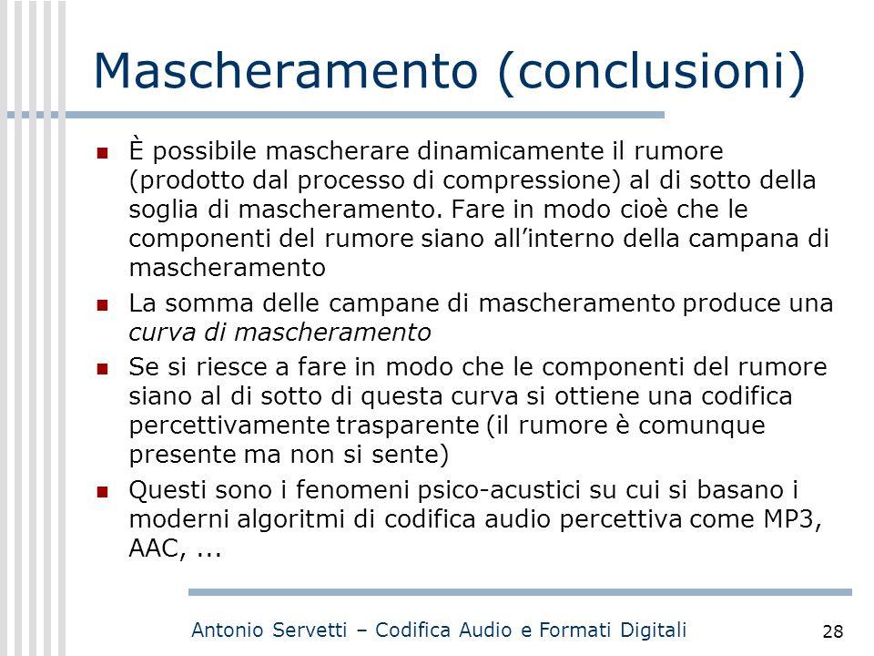Mascheramento (conclusioni)