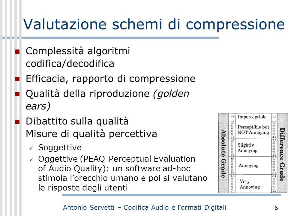 Valutazione schemi di compressione