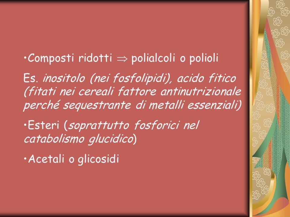 Composti ridotti  polialcoli o polioli