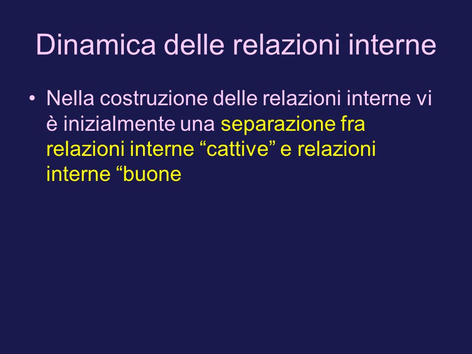 Dinamica delle relazioni interne