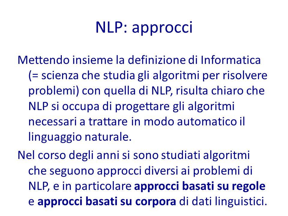 NLP: approcci