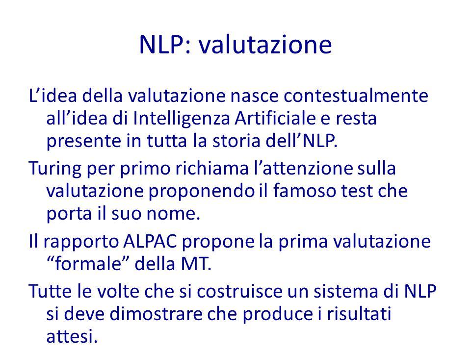NLP: valutazione