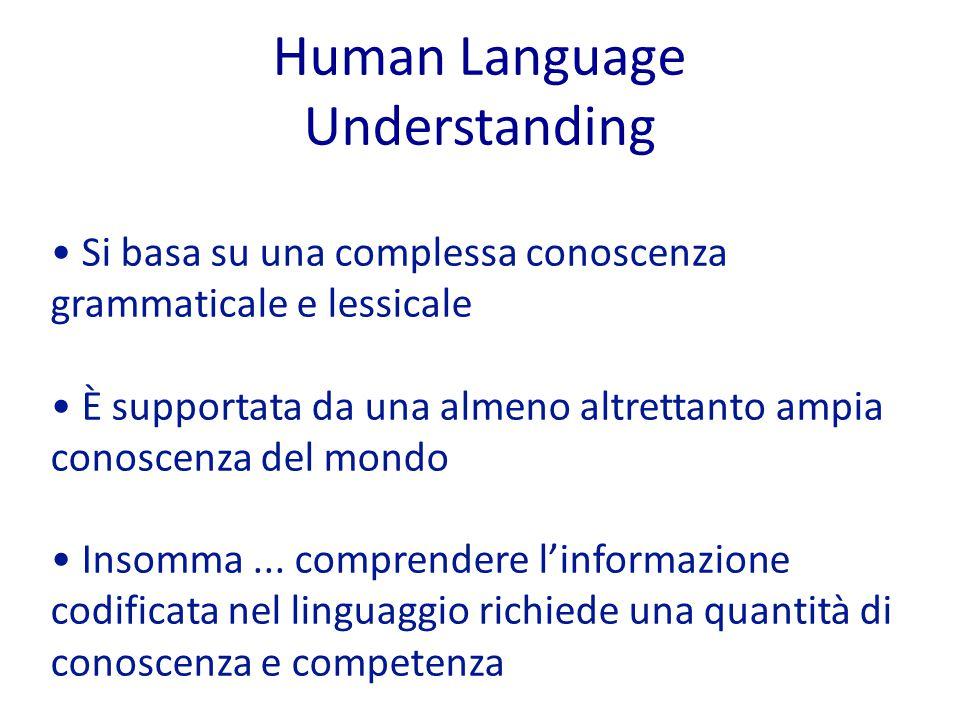 Human Language Understanding
