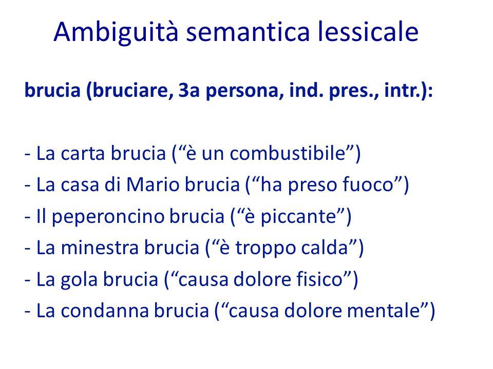 Ambiguità semantica lessicale