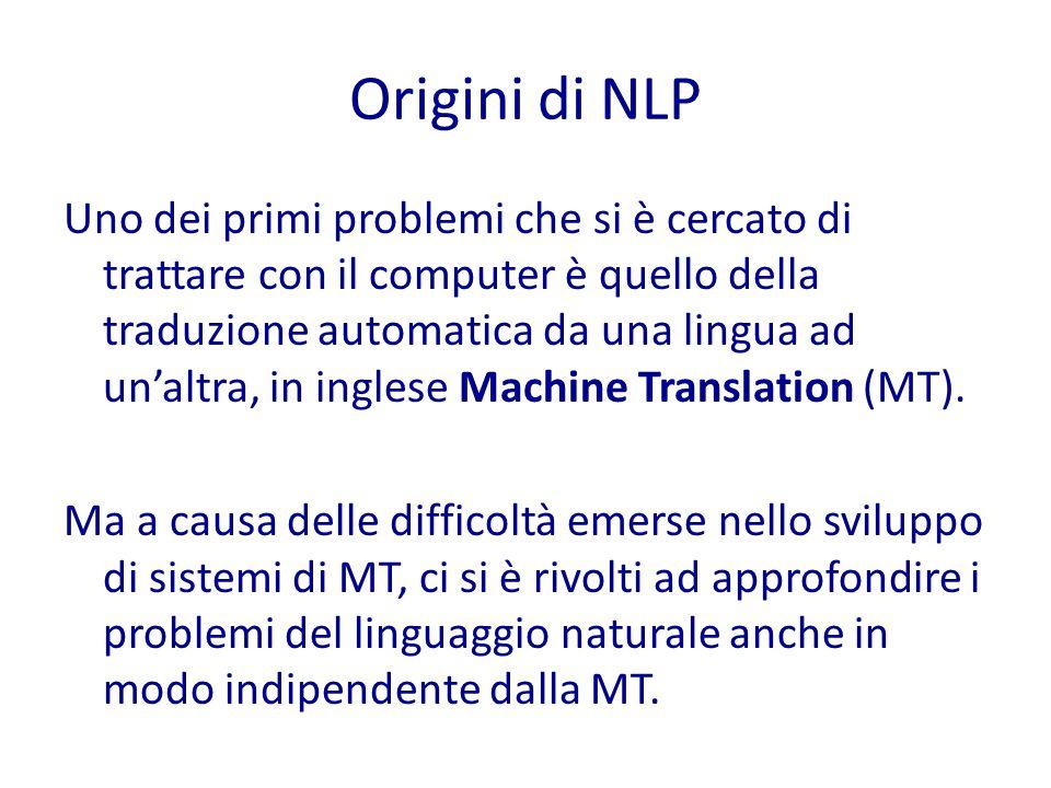 Origini di NLP