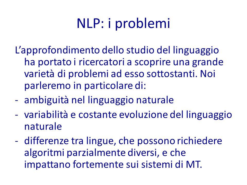 NLP: i problemi