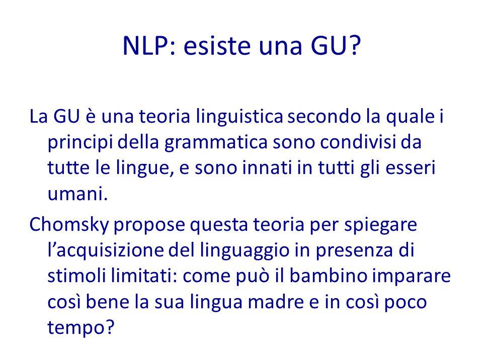 NLP: esiste una GU