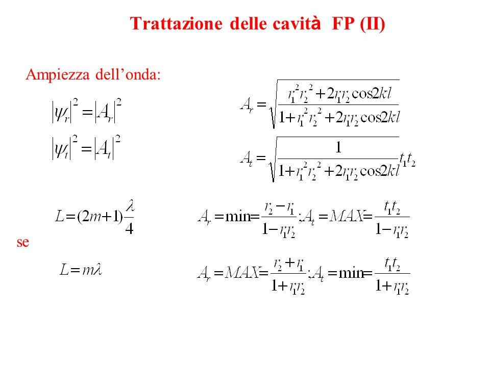 Trattazione delle cavità FP (II)