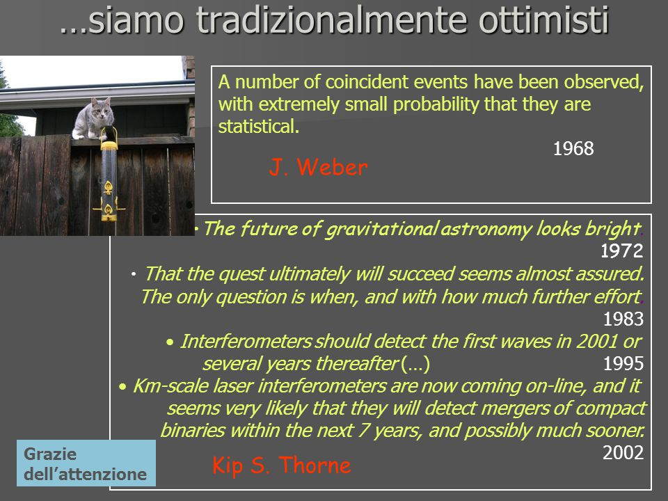 …siamo tradizionalmente ottimisti