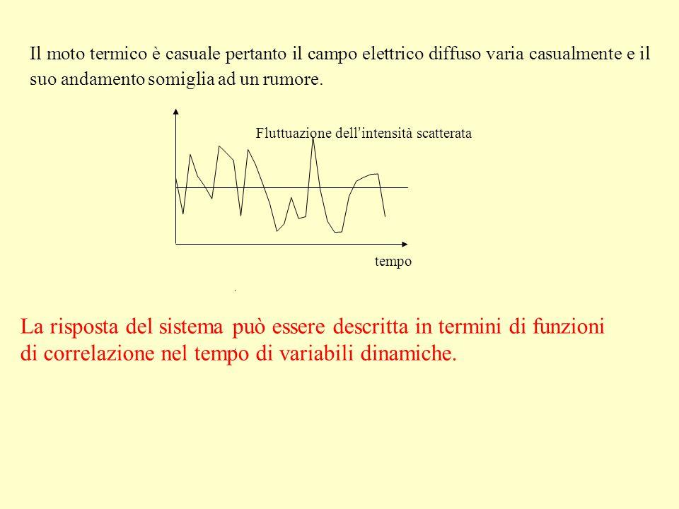 La risposta del sistema può essere descritta in termini di funzioni