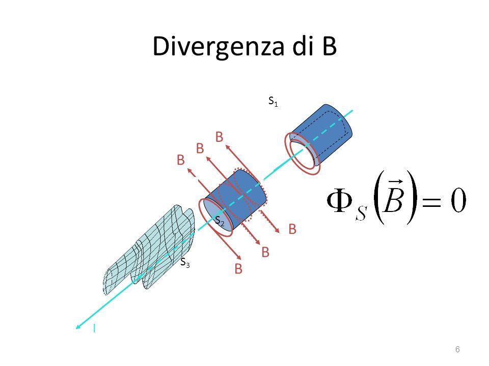 Divergenza di B B B B B B B I I S1 S2 S3