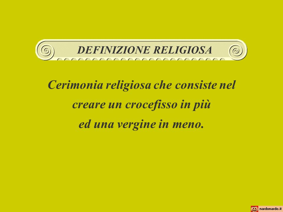 Cerimonia religiosa che consiste nel creare un crocefisso in più