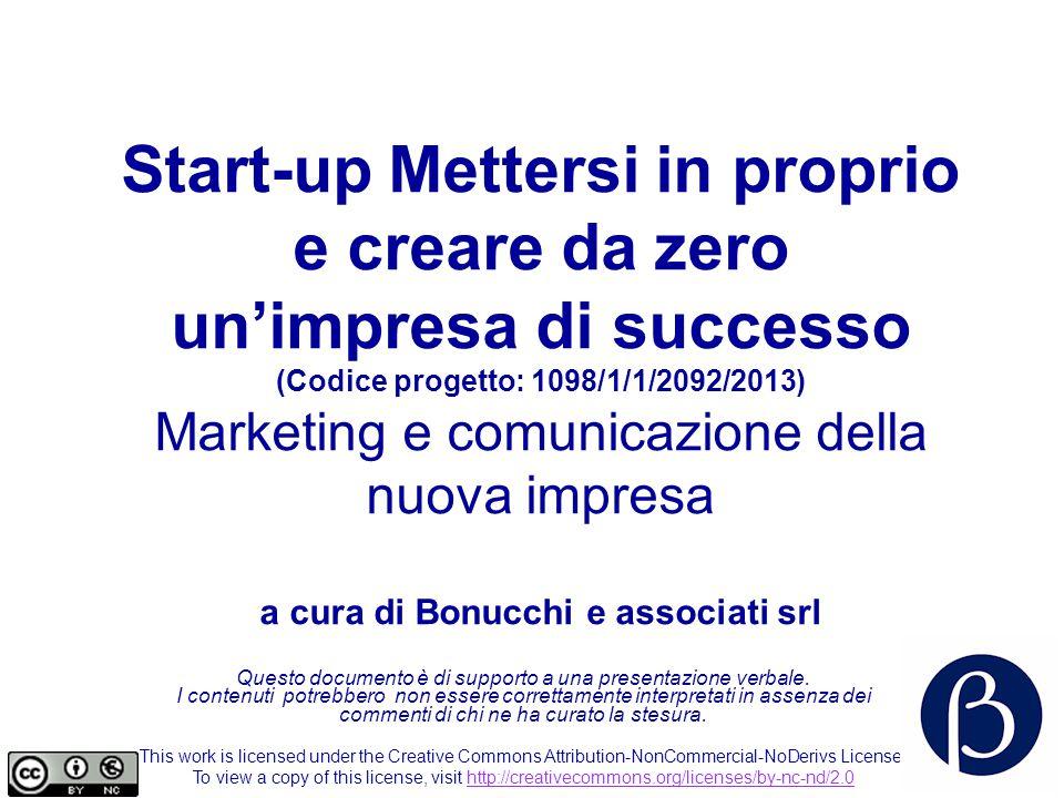 Start-up Mettersi in proprio e creare da zero un'impresa di successo