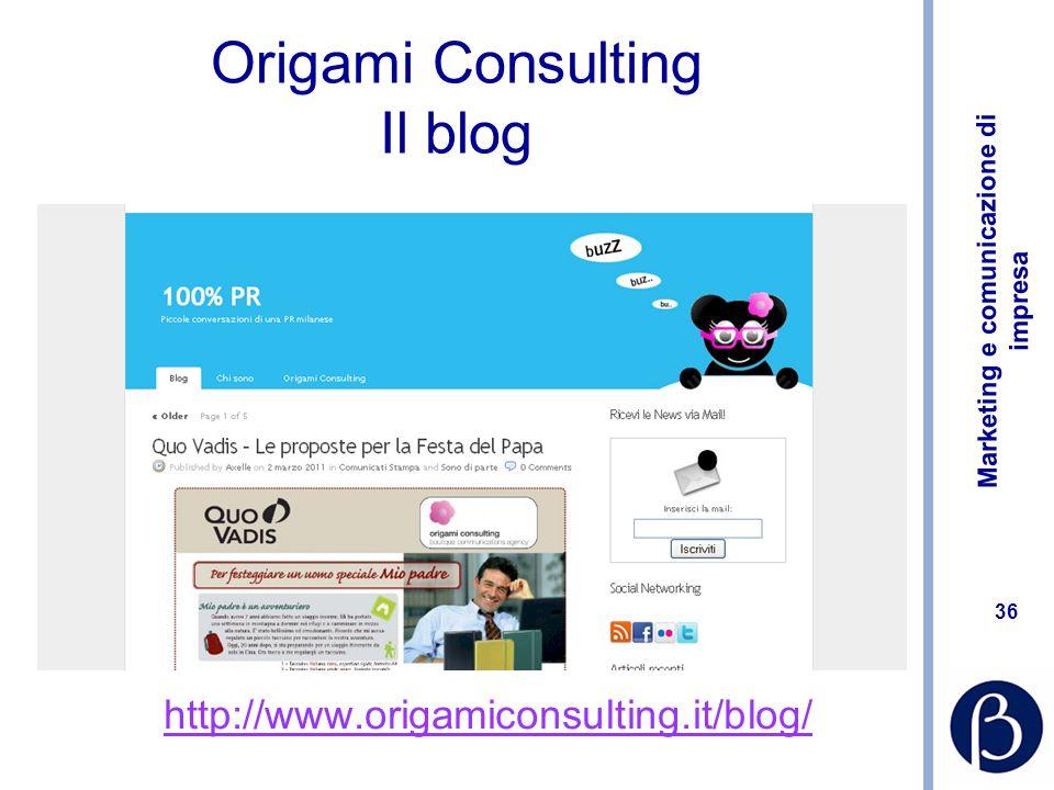 Origami Consulting Il blog