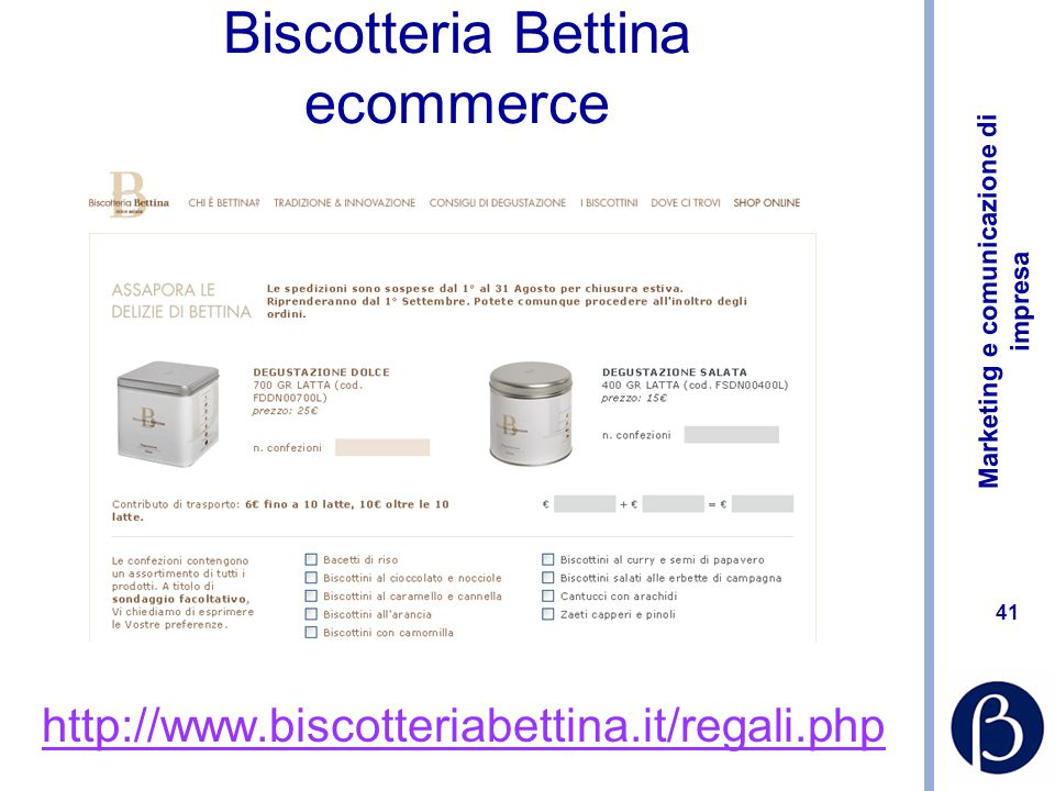 Biscotteria Bettina ecommerce