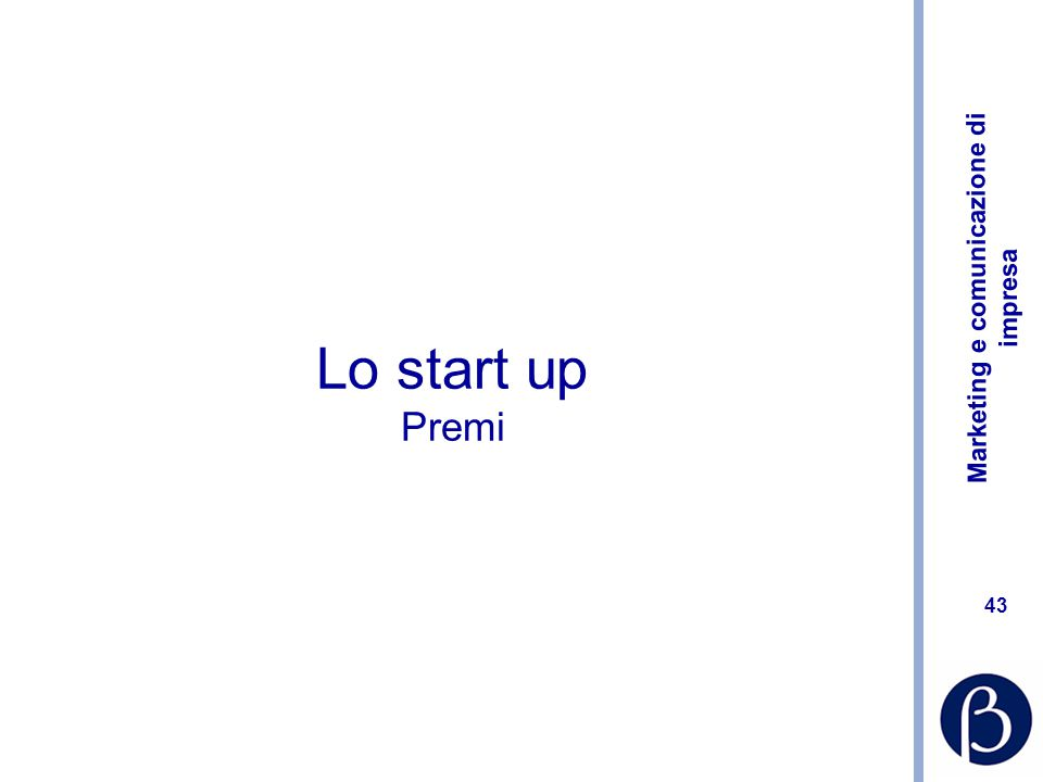 Lo start up Premi
