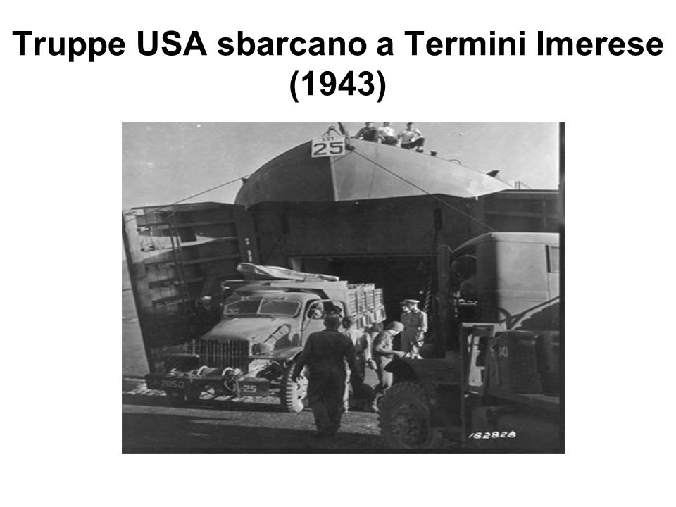 Truppe USA sbarcano a Termini Imerese (1943)