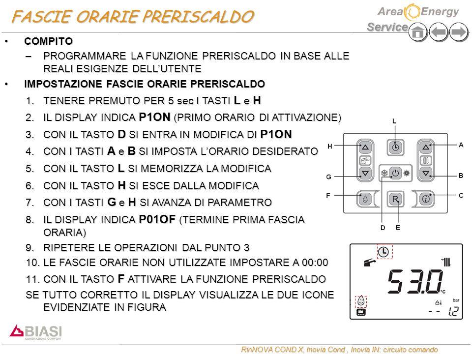 FASCIE ORARIE PRERISCALDO