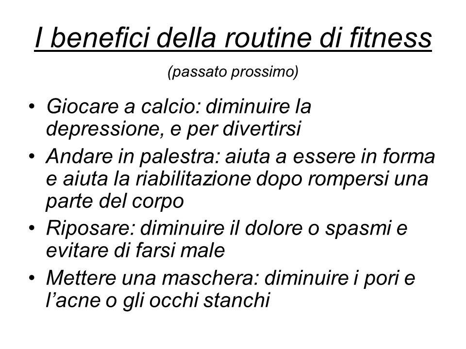 I benefici della routine di fitness