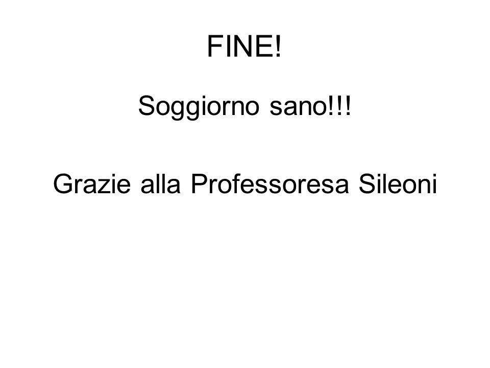Soggiorno sano!!! Grazie alla Professoresa Sileoni