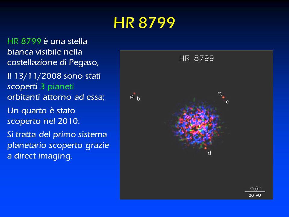 2121 HR 8799. HR 8799 è una stella bianca visibile nella costellazione di Pegaso,