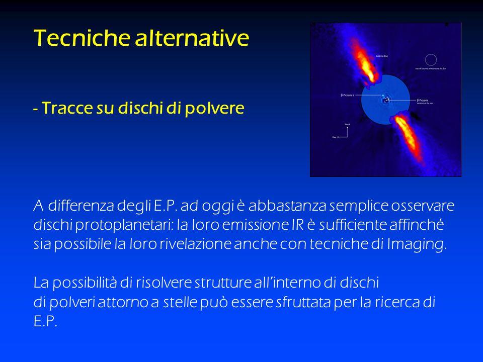 Tecniche alternative - Tracce su dischi di polvere